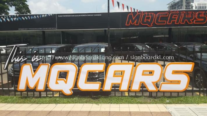 MQCARS 3D box up led conceal lettering signage at ampang Kuala Lumpur