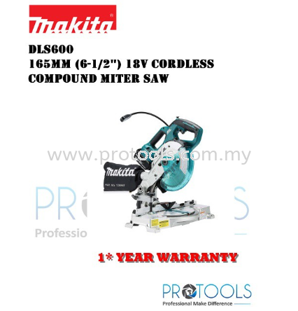 MAKITA DLS600Z 165mm (6-1/2″) �C 18V Cordless Compound Miter Saw