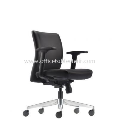 ERGO EXECUTIVE LOW BACK LEATHER CHAIR WITH ALUMINIUM DIE-CAST BASE ER382L