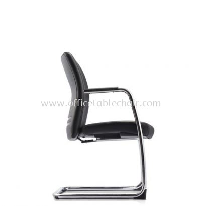 ERGO EXECUTIVE VISITOR LEATHER CHAIR WITH CHROME CANTILEVER BASE ER383L