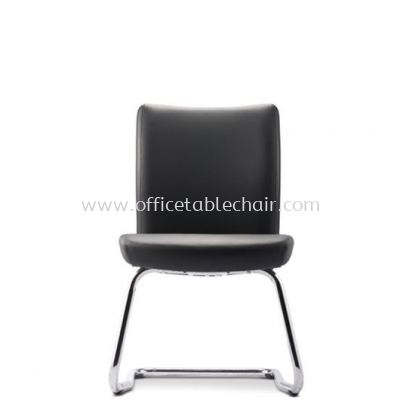 ERGO EXECUTIVE VISITOR LEATHER CHAIR W/O ARMREST WITH CHROME CANTILEVER BASE ER384L