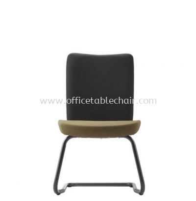 ERGO EXECUTIVE VISITOR CHAIR W/O ARMREST WITH EPOXY BLACK CANTILEVER ER384F
