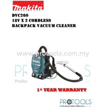 MAKITA DVC260Z CORDLESS TWIN 18V BACKPACK VACUUM CLEANER (SOLO ) BRUSHLESS MOTOR