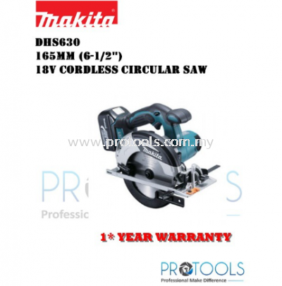 MAKITA DHS630 165mm (6-1/2��) �C 18V Cordless Circular Saw