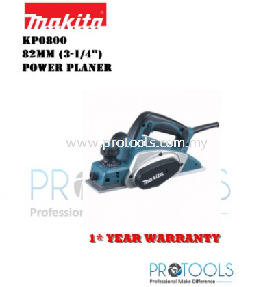 MAKITA KP0800 82mm (3-1/4��) �C Power Planer - 1 YEAR WARRANTY