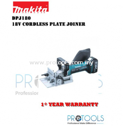 MAKITA DPJ180Z 18V CORDLESS PLATE JOINTER (BODY ONLY) - 1 YEAR WARRANTY