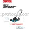 "MAKITA PLM5120N2 510mm (20"") 4-Stroke Side Discharge �C Petrol Lawn Mower Makita Lawn Mowers"