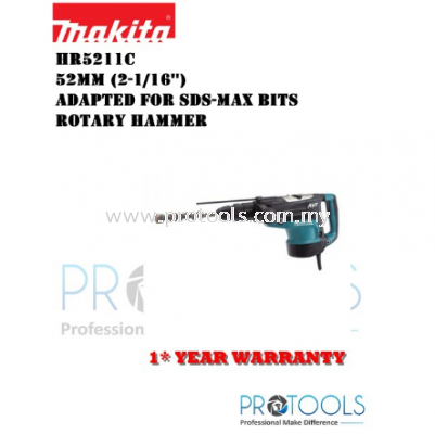 MAKITA HR5211C 52mm (2-1/16��) SDS-MAX bits Rotary Hammer- 1 YEAR WARRANTY
