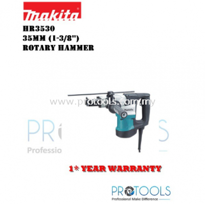 MAKITA HR3530 35mm (1-3/8��) �C Rotary Hammer - 1 YEAR WARRANTY