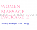 Women Massage Package E Women Massage Package