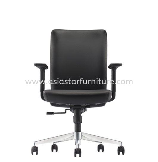 ERGO EXECUTIVE MEDIUM BACK LEATHER OFFICE CHAIR WITH ALUMINIUM DIE-CAST BASE - Top 10 Best Selling executive office chair | executive office chair Kepong Baru | executive office chair Puchong Business Park | executive office chair Megan Avenue
