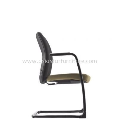 ERGO EXECUTIVE VISITOR BACK CHAIR WITH EPOXY BLACK CANTILEVER BASE ER383F