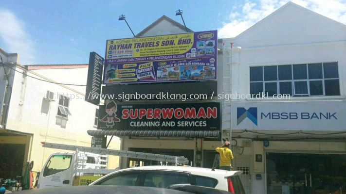 rayhar travels sdn bhd giant billboards at jenjarom klang