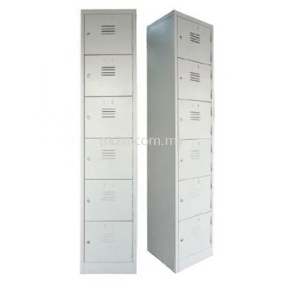 6 Compartment Steel Locker (G1-SL-6-15)