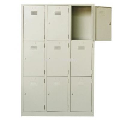 9 Compartment Steel Locker (G1-SL-11-15)