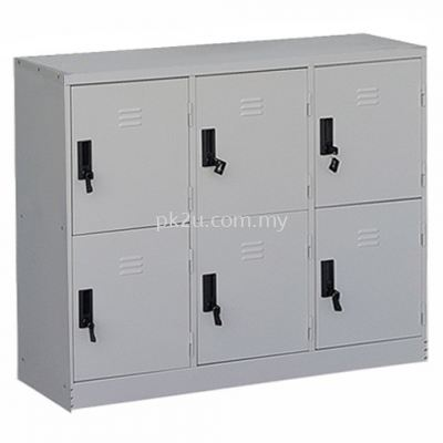 6 Compartment Steel Locker (G1-SL-21-15)