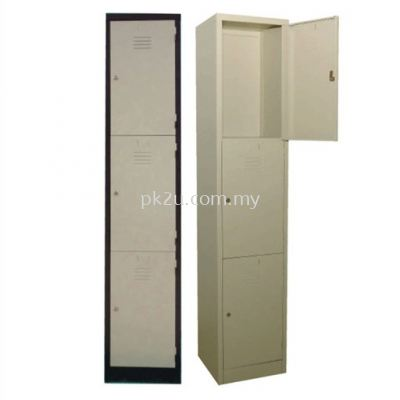 3 Compartment Steel Locker (G1-SL-3-15)