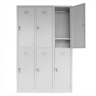6 Compartment Steel Locker (G1-SL-9-15)