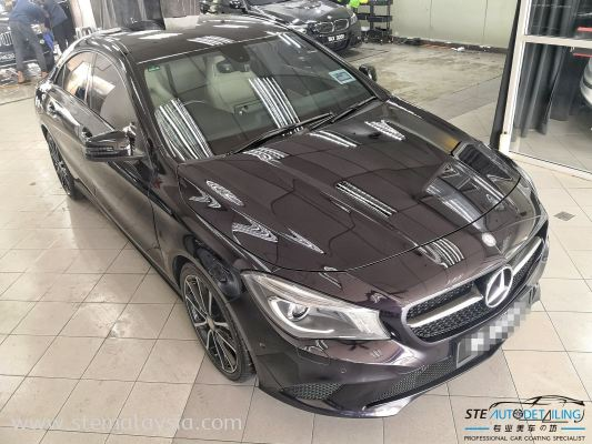 Mercedes Benz CLA 200 northern light violet protected by STE Coating .
