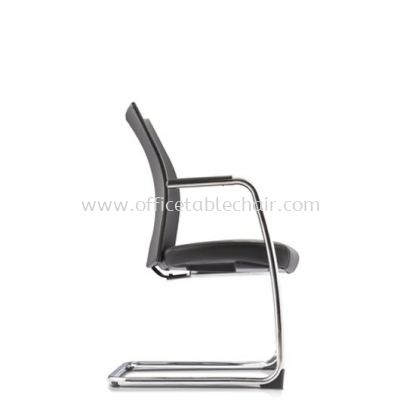 MESH ll EXECUTIVE VISITOR LEATHER CHAIR C/W ARMREST WITH CHROME CANTILEVER BASE MH-4L