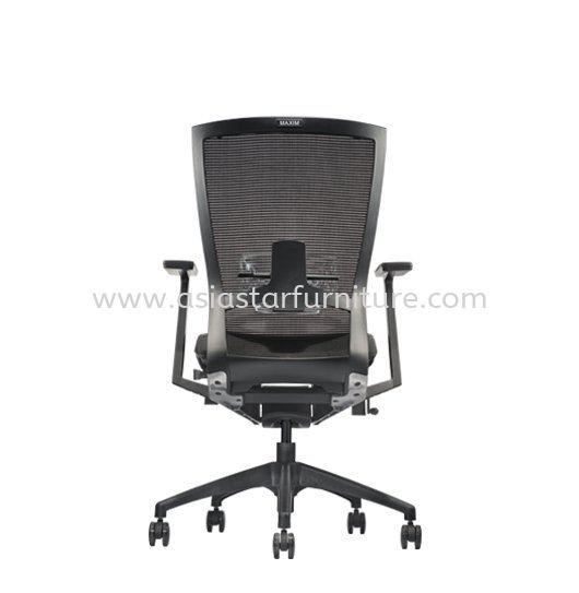 MAXIM MEDIUM BACK MESH CHAIR C/W NYLON BASE (LEATHER) AMX 8111N