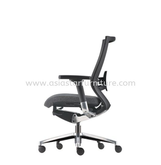 MAXIM MEDIUM BACK SOFTECH CHAIR C/W ALUMINIUM DIE-CAST BASE AMX 8111F-20A