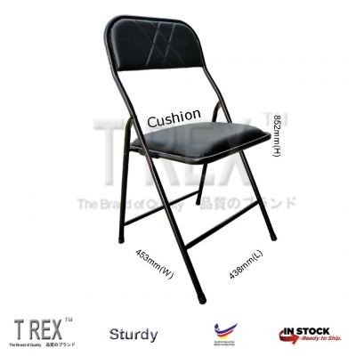 3V IF Cushion Folding Chair - Black