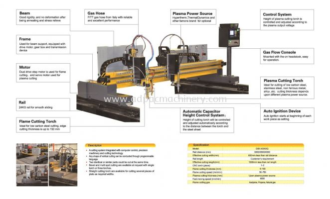 Light Duty CNC Plasma Cutting Machine