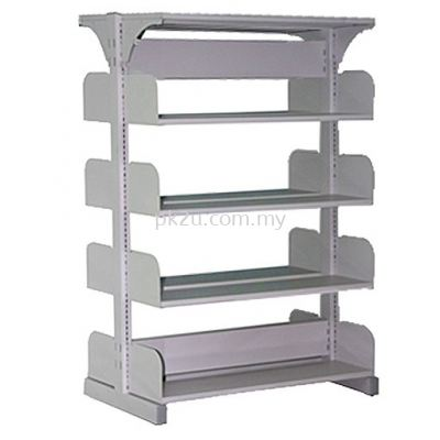 Double Sided Library Shelving - 8 Shelves (A1-DSLS-4L-OP)