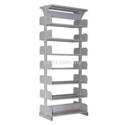 Double Sided Library Shelving - 14 Shelves (A1-DSLS-7L-OP)