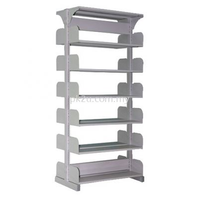 Double Sided Library Shelving - 12 Shelves (A1-DSLS-6L-OP)