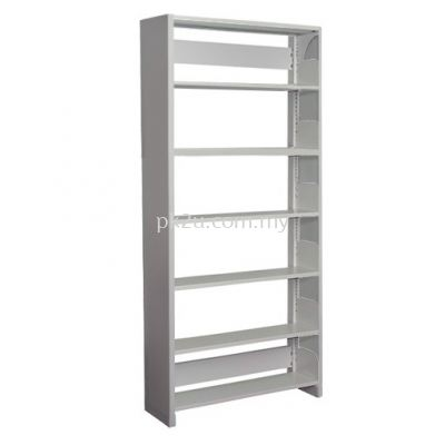 Single Sided Library Shelving With Steel End Panel - 6 Shelves (A1-SSLS-6L-SP)