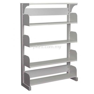 Single Sided Library Shelving - 4 Shelves (A1-SSLS-4L-OP)