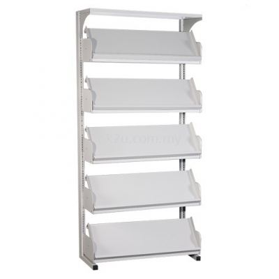 Single Sided Library Magazine Rack - 5 Shelves (A1-SSLM-5L-OP)