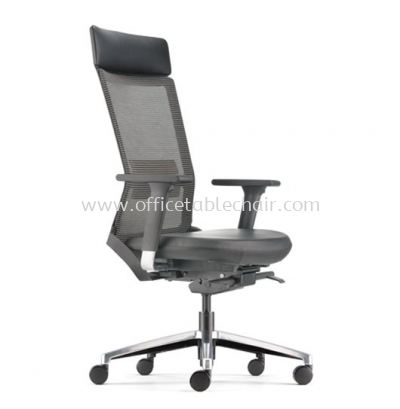 ROYSES HIGH BACK MESH CHAIR WITH ALUMINIUM HIGH BASE AND ALUMINIUM ADJUSTABLE ARMREST ARC 8520L