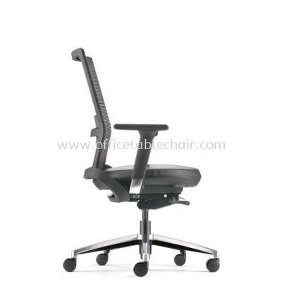 ROYSES MEDIUM BACK MESH CHAIR WITH ALUMINIUM HIGH BASE AND ALUMINIUM ADJUSTABLE ARMREST ARC 8511L