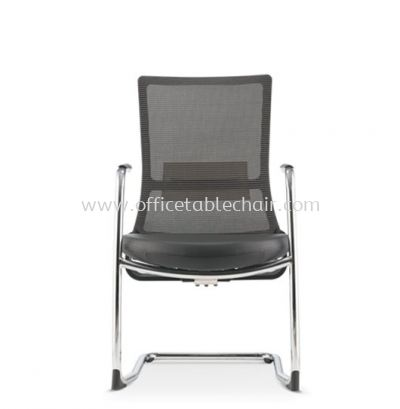 ROYSES VISITOR MESH BACK CHAIR WITH ARM AND CHROME CANTILEVER BASE ARC 8513L