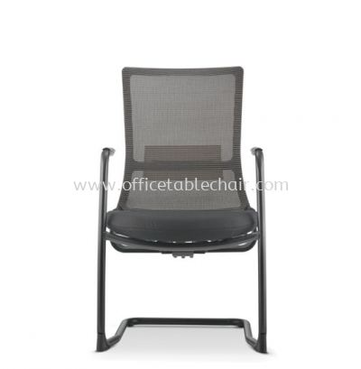 ROYSES VISITOR MESH BACK CHAIR WITH ARM AND EPOXY BLACK CANTILEVER BASE ARC 8513N