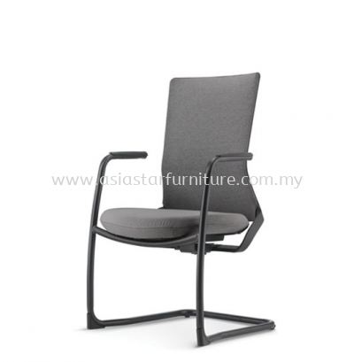 ROYSES VISITOR SOFTECH BACK CHAIR C/W EPOXY BLACK CANTILEVER BASE ARC 8513F
