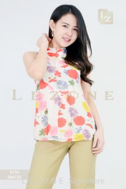 6750 PRINTED FLORAL BLOUSE  【2ND 50%】