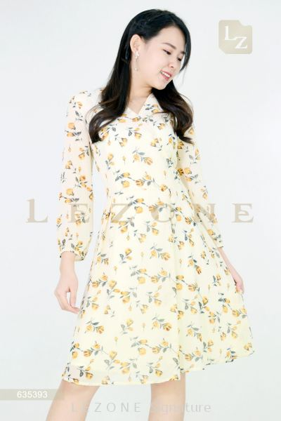 635393 PRINTED FLORAL DRESS