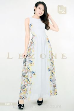28791 MAXI FLORAL DRESS 【1ST 10% 2ND 15% 3RD 20%】