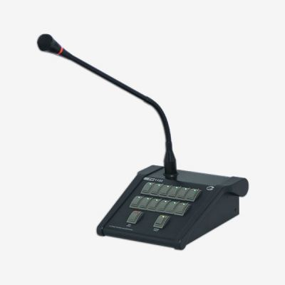Amperes PD1280 Keypad Digital Desktop Paging Microphone with Touch Sensor & LCD Display