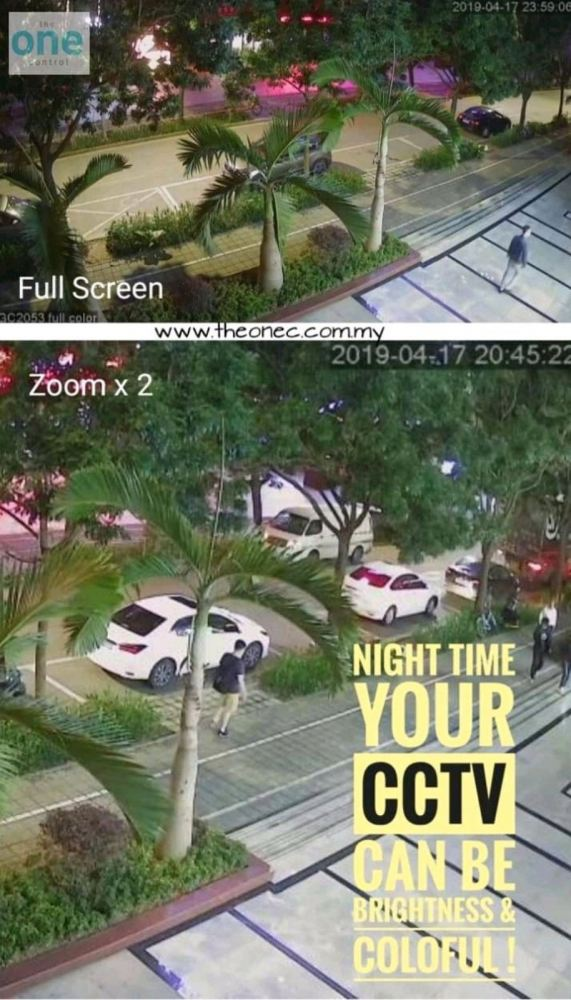cctv look colorful at night