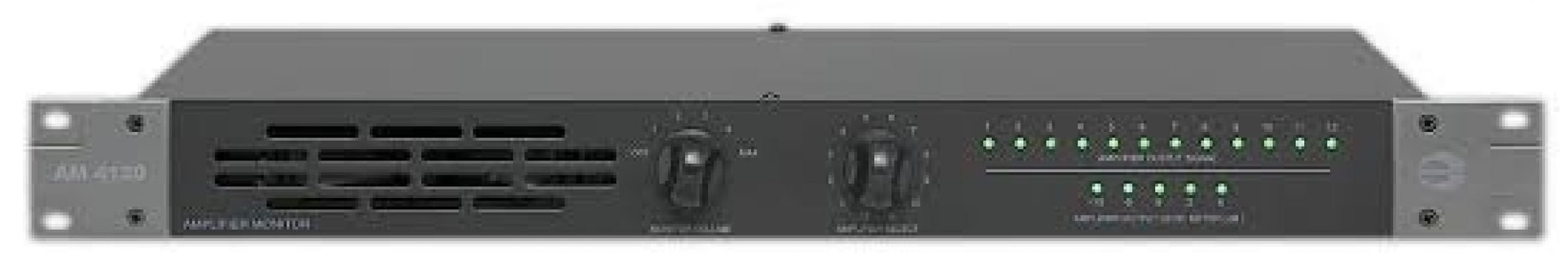 Amperes AM-4120 12 Channel Amplifier Monitor Panel