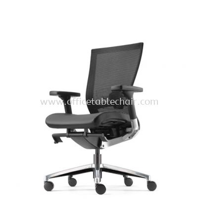 MAXIM MEDIUM BACK MESH CHAIR WITH ALUMINIUM BASE AMX8111L-10D58