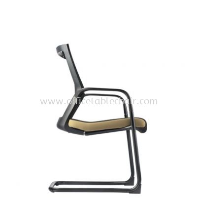 MAXIM VISITOR ERGONOMIC MESH CHAIR WITH EPOXY BLACK CANTILEVER BASE AMX 8113N-EA