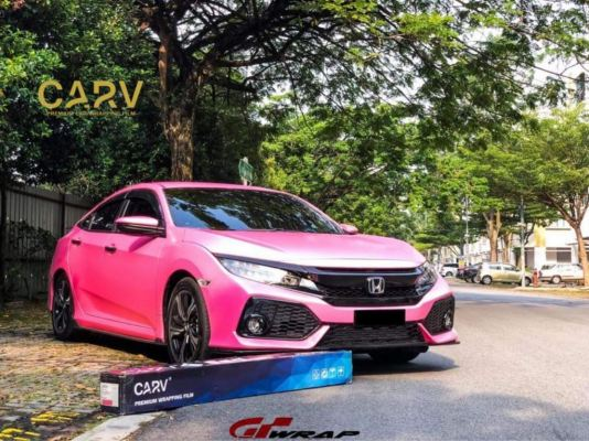 CARV6680 - Matte Diamond Pink With Gold