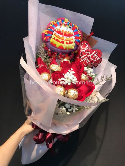 Mix balloon chocolate bouquet �����ɿ�������