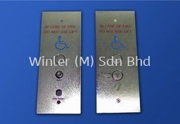Rectangular Hall Buttons Faceplates